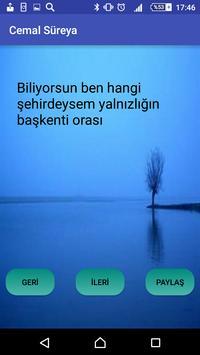 Cemal Süreya apk screenshot