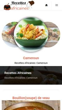 Recettes Africaines screenshot 1