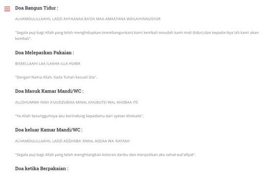 Kumpulan Doa Muslim apk screenshot