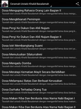 Ceramah Ustad Khalid Basalamah screenshot 5