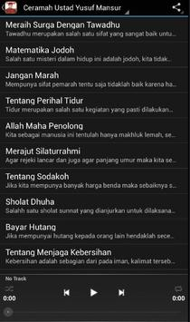 Ceramah Ustadz Yusuf Mansur screenshot 1