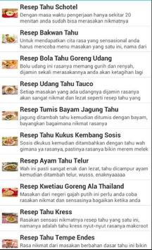 Kumpulan Resep Tahu Terbaru poster