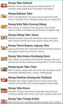 Kumpulan Resep Tahu Terbaru screenshot 2