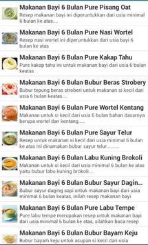 Resep Makanan Bayi Terbaru poster