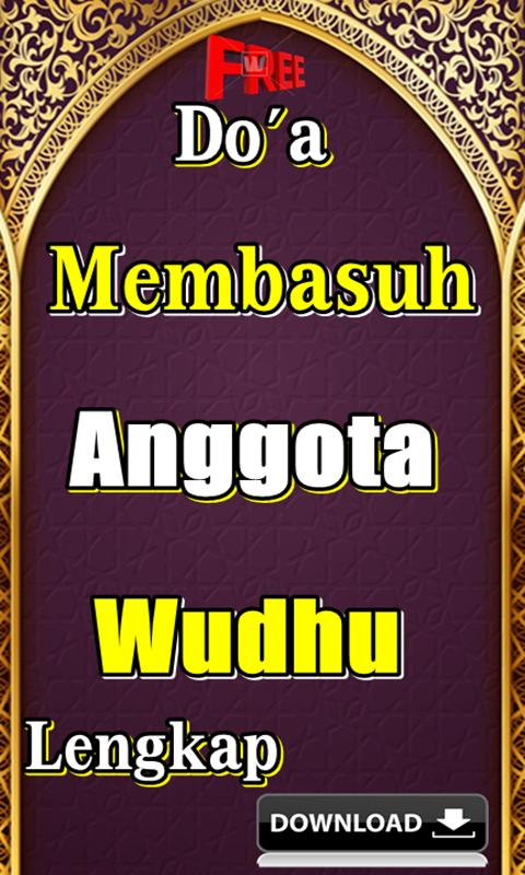 Doa Membasuh Anggota Wudhu Lengkap For Android Apk Download