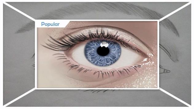 Easy Drawing Realistic Eyes screenshot 3