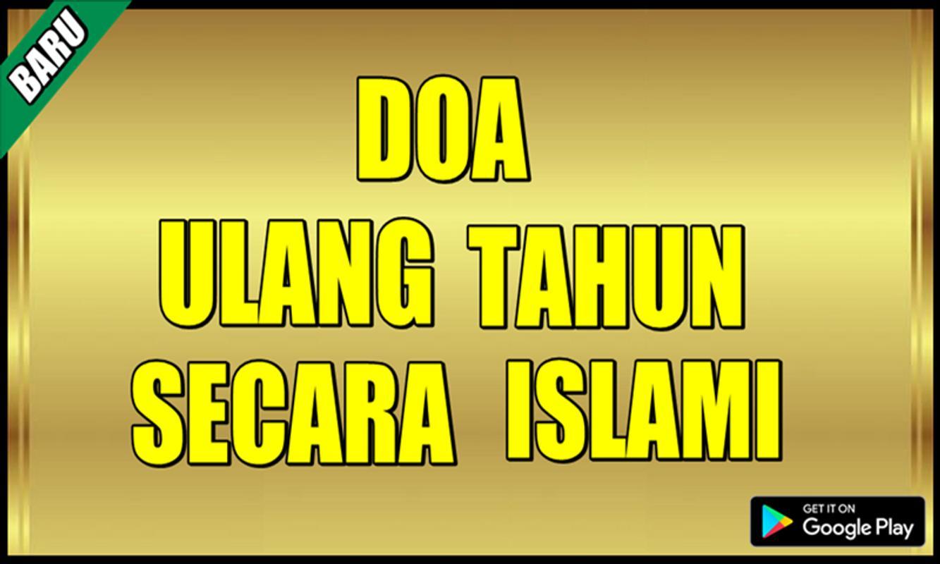 Doa Islami Ulang Tahun Nusagates
