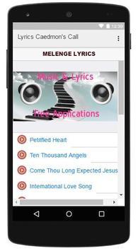 Lyrics Musics Caedmon's Call screenshot 2