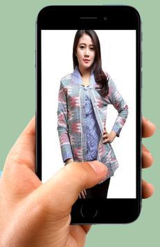 Batik shirt design office lady poster