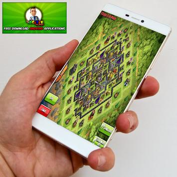 Top maps coc th9 2017 apk screenshot