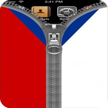 CzechRepublic Flag Zipper Lock poster