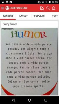 Portuguese Jokes & Funny Pics screenshot 1