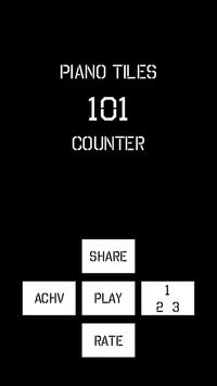 Piano Tiles 101 Counter poster