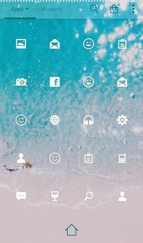 Beach therapy 도돌런처 테마 apk screenshot