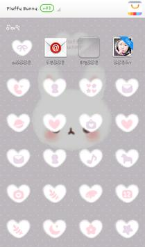 Fluffy Bunny 도돌런처 테마 screenshot 3