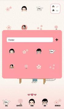 옥철이(벚꽃사랑) 도돌런처 테마 apk screenshot