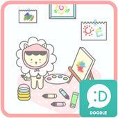 bobo (i like painting) 카카오톡 테마 icon