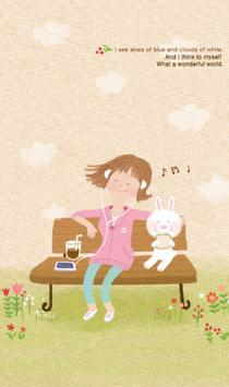 따뜻한봄날 카카오톡 테마 poster