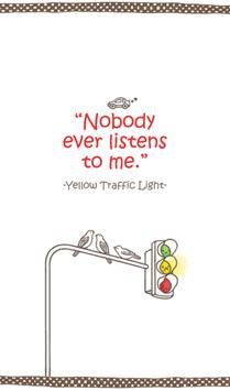 yellow traffic light 카카오톡 테마 poster
