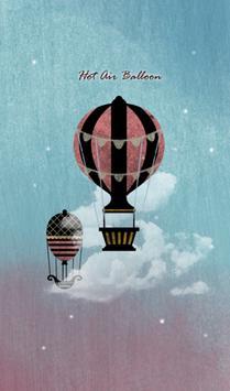 열기구 풍선 카카오톡 테마 poster