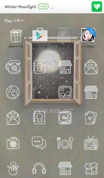 Winter Moonlight 도돌런처 테마 apk screenshot