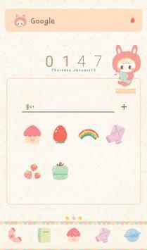 쁘띠허니(rabbit) 도돌런처 테마 screenshot 1