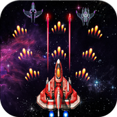 space galaxy adventure shooter game icon
