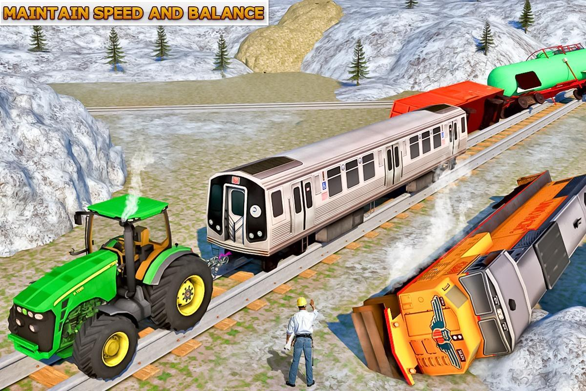 Tractor Pulling Train : Tractor vs train d simulator for android apk download
