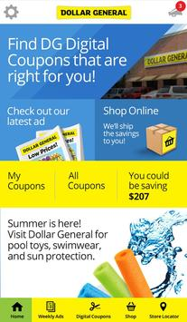 Dollar General - Digital Coupons, Ads And More poster
