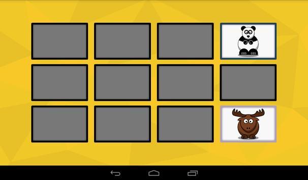 Animal Memory Game screenshot 1