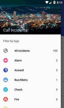 Portland 911 Incidents Monitor screenshot 1
