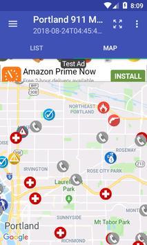 Portland 911 Incidents Monitor screenshot 2