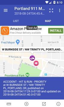 Portland 911 Incidents Monitor screenshot 3