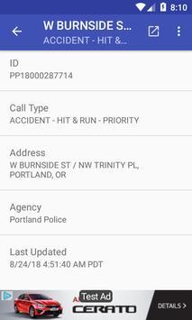 Portland 911 Incidents Monitor screenshot 5