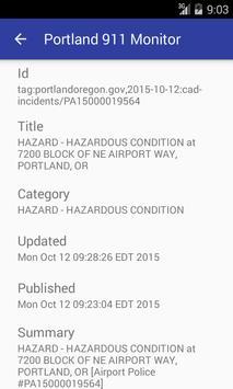 Portland 911 Incidents Monitor apk screenshot