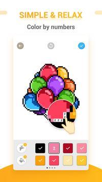 Pixel Arte - Jeu de coloriage de numéro Cartaz