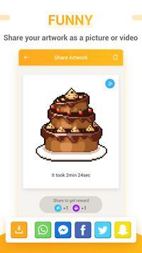 Pixel unicorn  - free coloring book screenshot 4