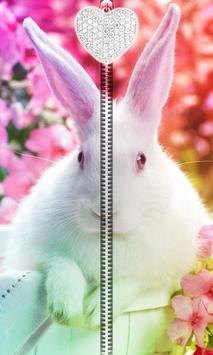 Cute Bunny Zipper UnLock poster