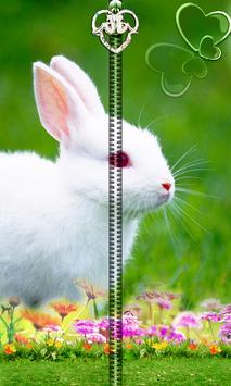 Cute Bunny Zipper UnLock apk screenshot