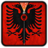 Albania Flag Zipper UnLock icon
