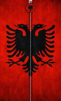 Albania Flag Zipper UnLock poster