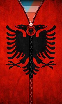 Albania Flag Zipper UnLock screenshot 1
