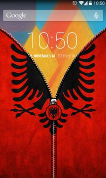 Albania Flag Zipper UnLock screenshot 4
