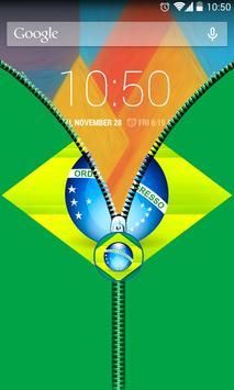 Brazil Flag Zipper UnLock screenshot 4