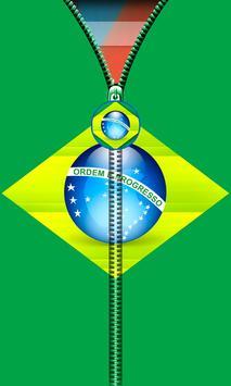 Brazil Flag Zipper UnLock screenshot 1