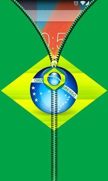 Brazil Flag Zipper UnLock screenshot 2