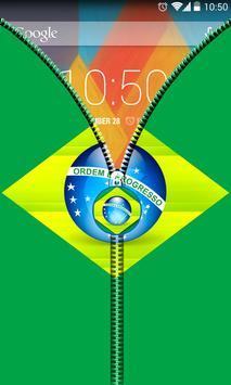 Brazil Flag Zipper UnLock screenshot 3