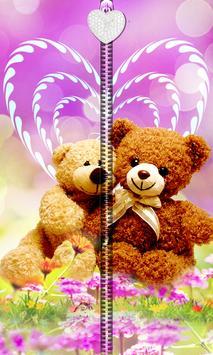 Pink Teddy Bear Zipper UnLock screenshot 6