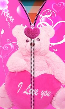 Pink Teddy Bear Zipper UnLock screenshot 1