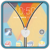 Transparent Zipper UnLock icon